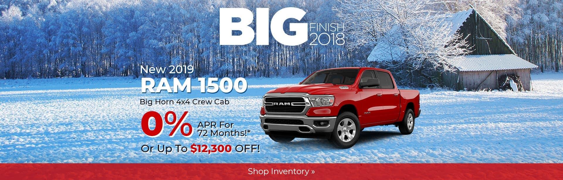 2019 Ram 1500 Big Horn 0% APR near Lafayette, Indiana.
