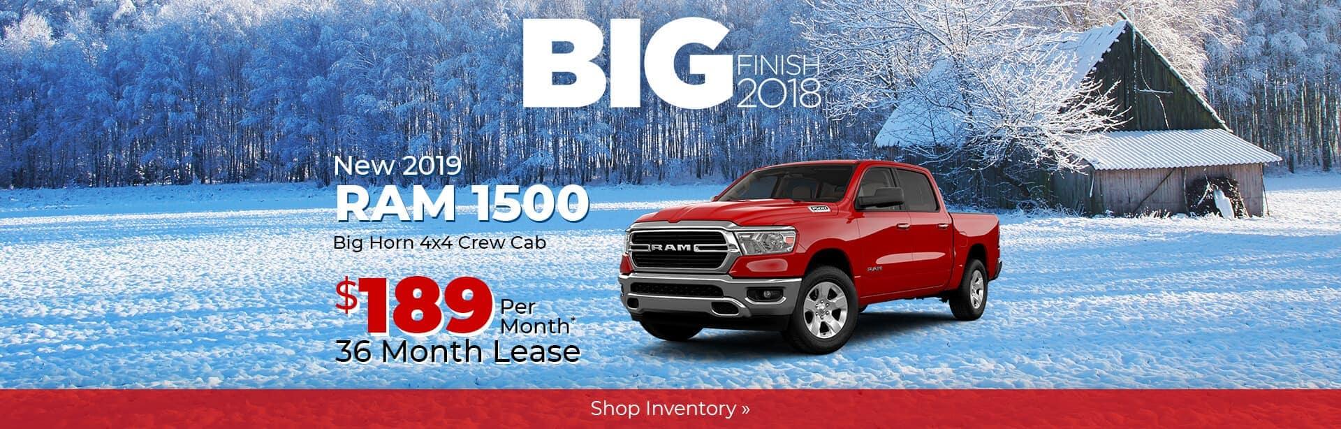 2019 Ram 1500 Big Horn Big Finish Lease Special near Lafayette, Indiana.