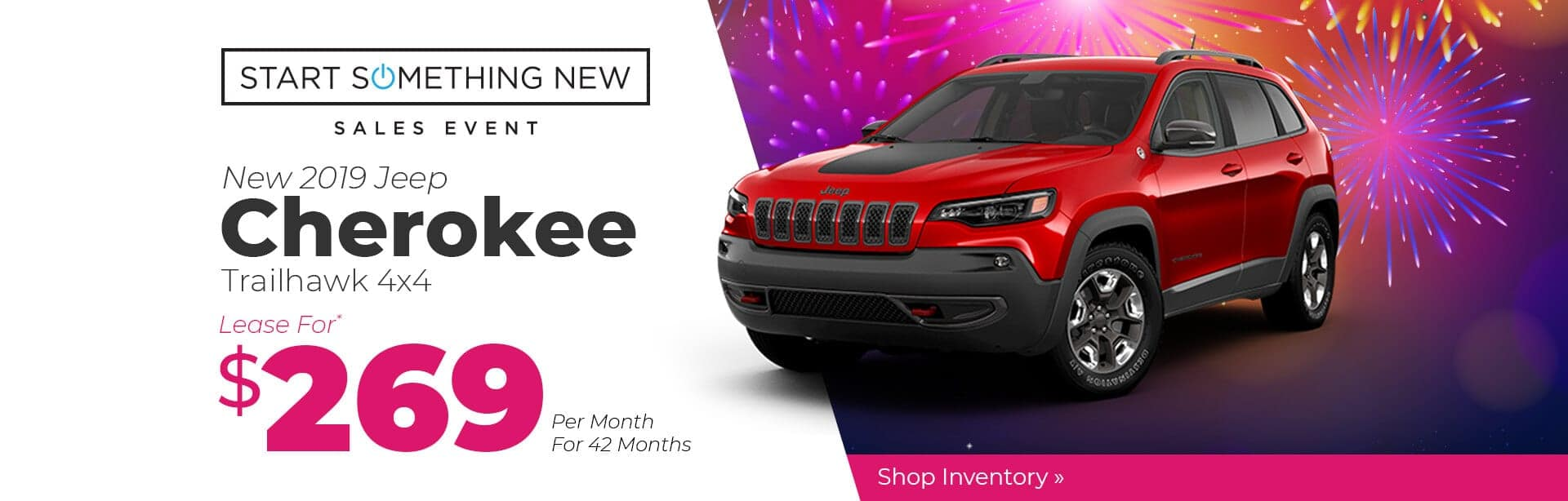 2019 Jeep Cherokee Trailhawk Lease Special near Lafayette, Indiana