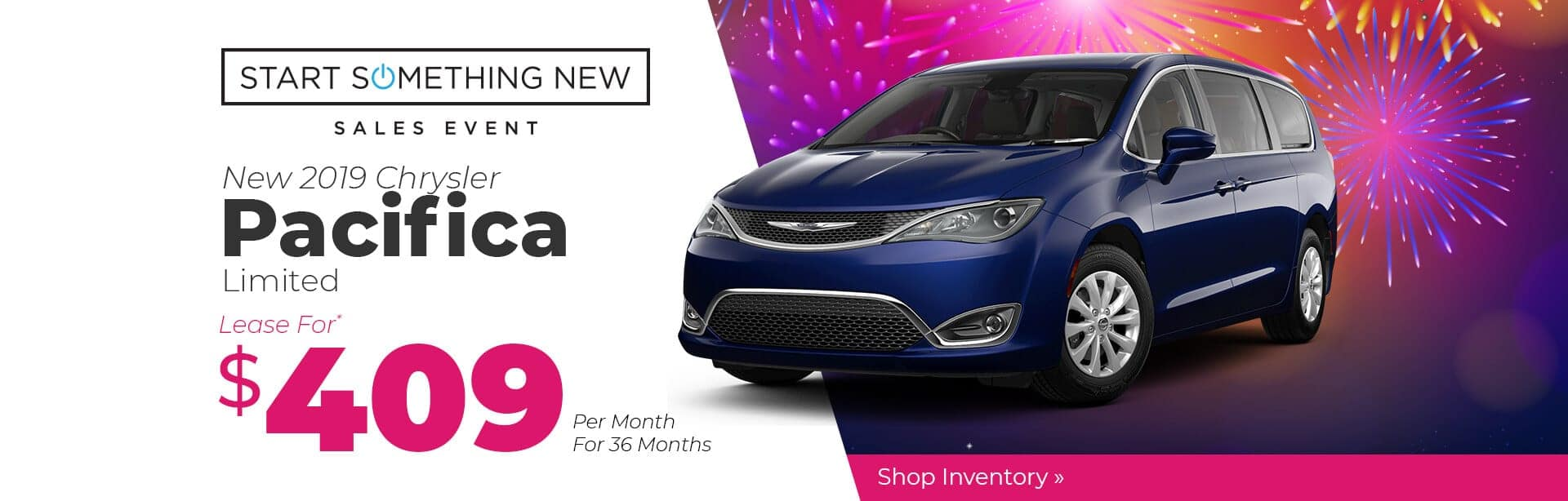 2019 Chrysler Pacifica Lease Special in Crawfordsville, Indiana.