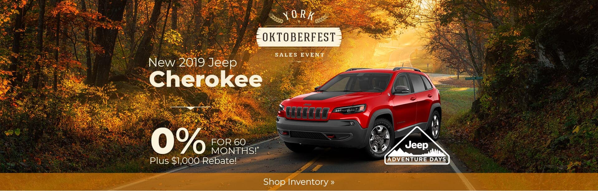 2019 Jeep Cherokee 0% Financing near Lafayette, Indiana.