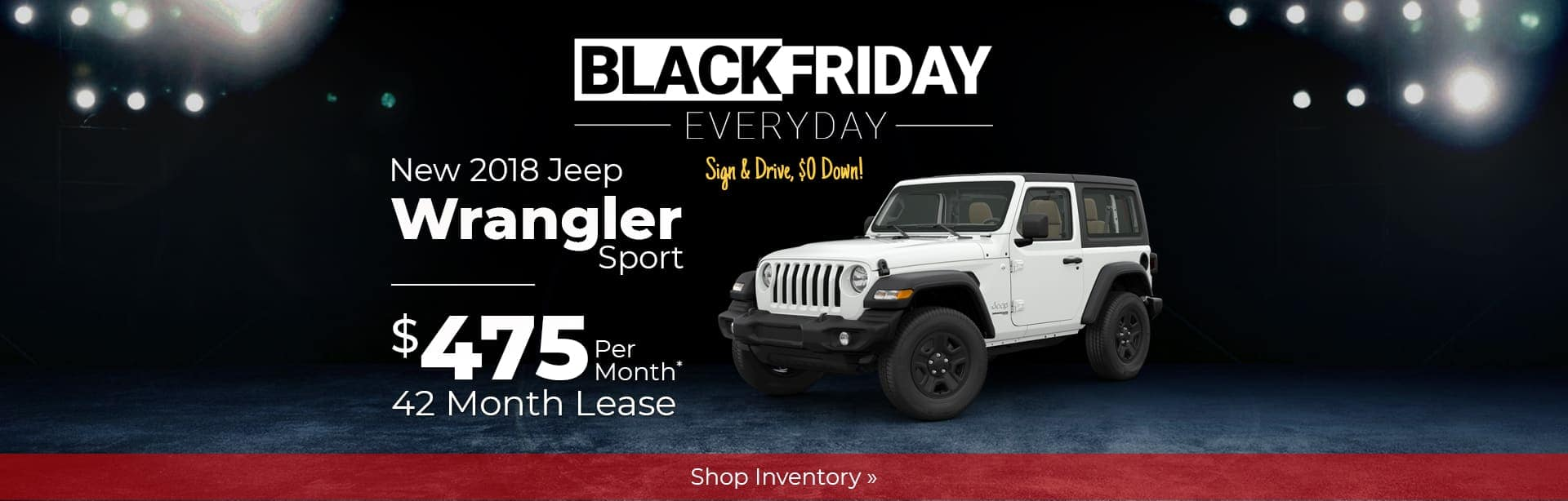 2018 Jeep Wrangler Black Friday Special near Lafayette, Indiana.
