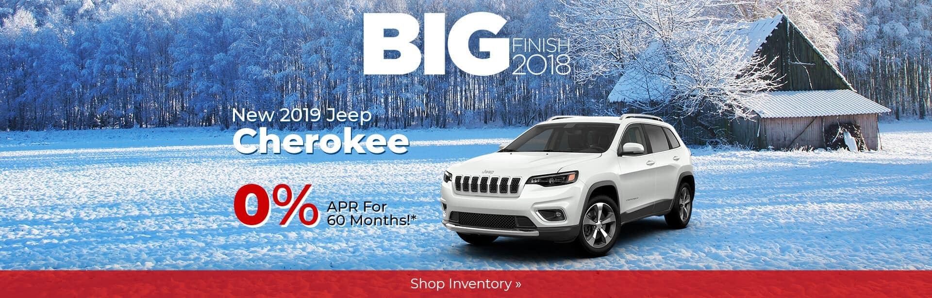 2019 Jeep Cherokee Big Finish Holiday Savings near Indianapolis.