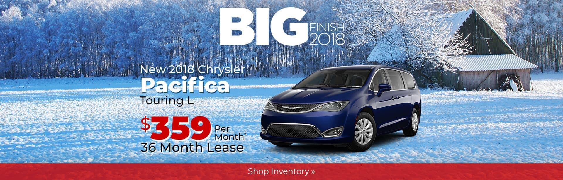 2018 Chrysler Pacifica Big Finish Savings near Lafayette, Indiana.
