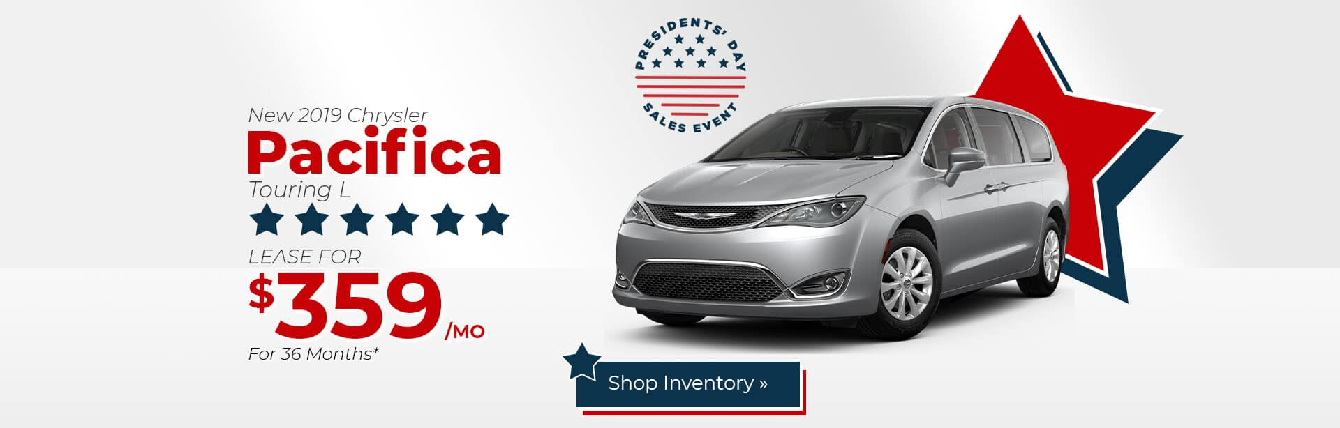 Chrysler Pacifica Lease Special near Lafayette, Indiana.
