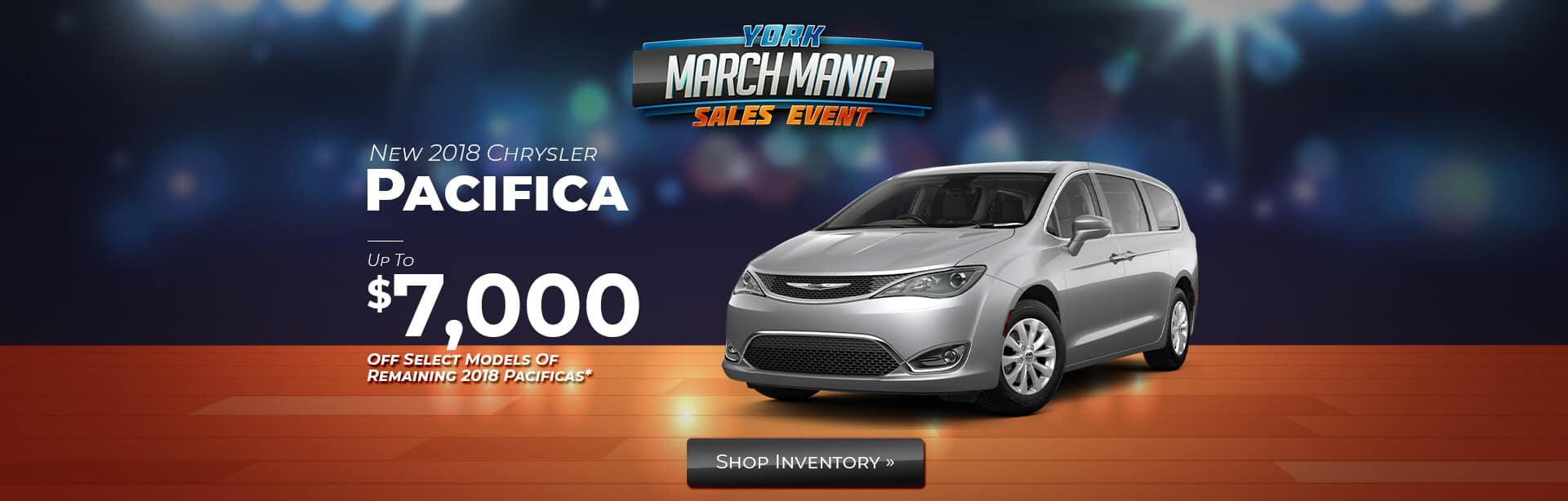 2018 Model End Savings on a Chrysler Pacifica Van near Indianapolis.