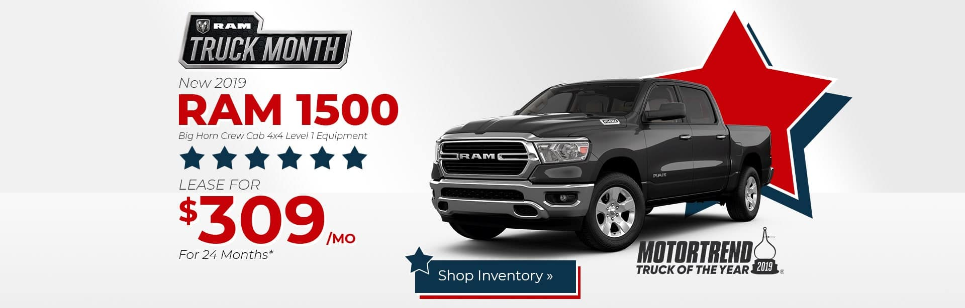 2019 Ram 1500 Big Horn Lease Special near Indianapolis, Indiana.