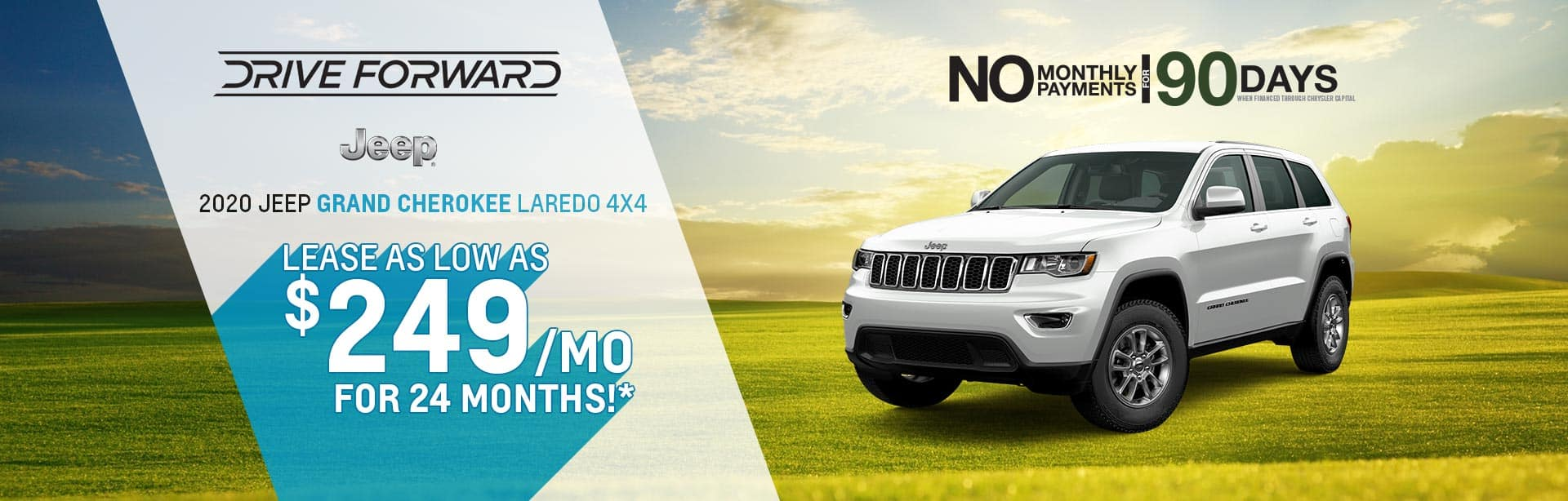 Lease a Grand Cherokee at $249 a month near Lafayette, Indiana