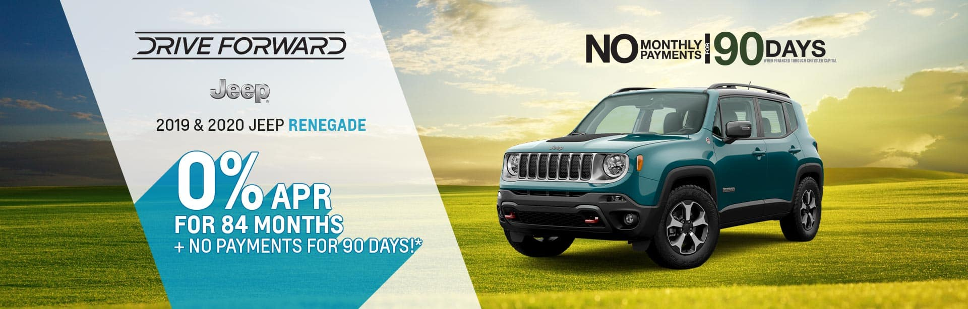 Financee a New Jeep Renegade for 0% near Lebanon, Indiana