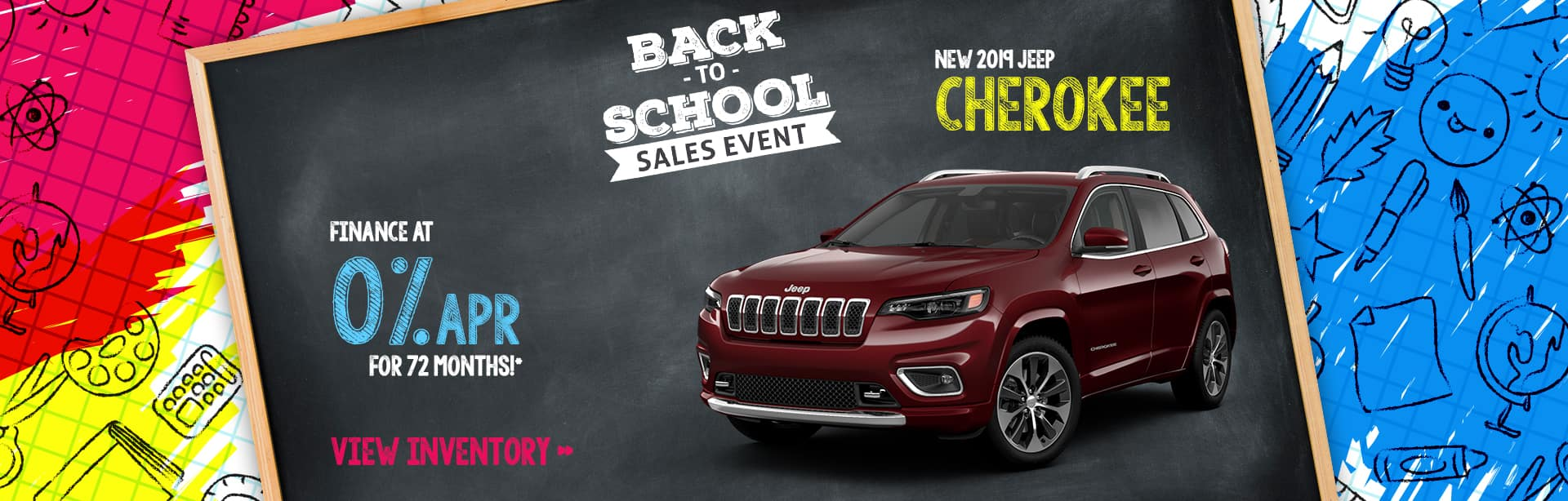Finance a New Jeep Cherokee for 0% near Lafayette, Indiana