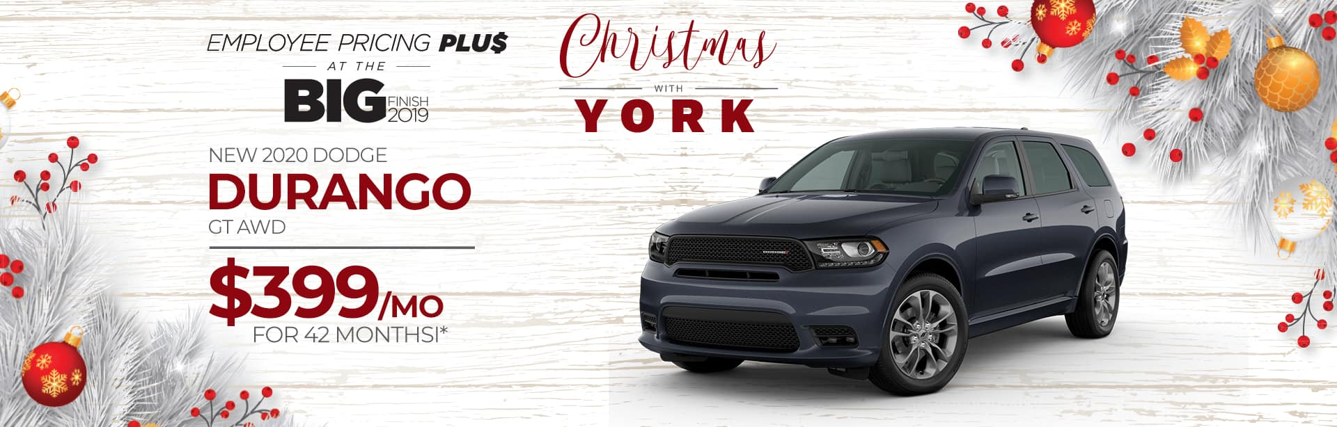 Lease a new Durango for $399 a month near Greencastle, Indiana