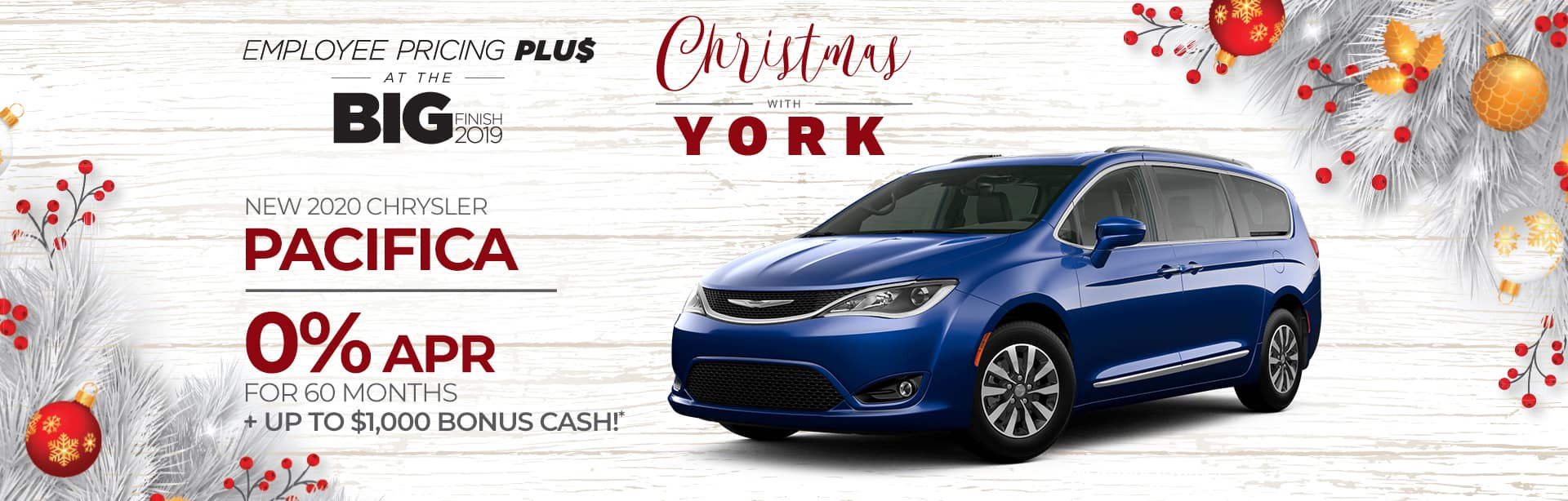 Finance deal on a New Chrysler Pacifica near Lafayette, Indiana