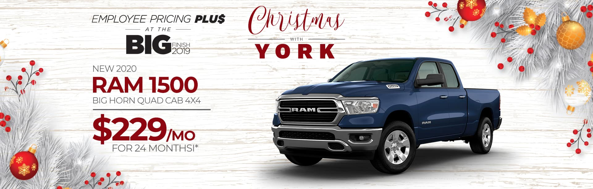 Lease a New 2020 RAM for $229 a month in Crawfordsville, Indiana