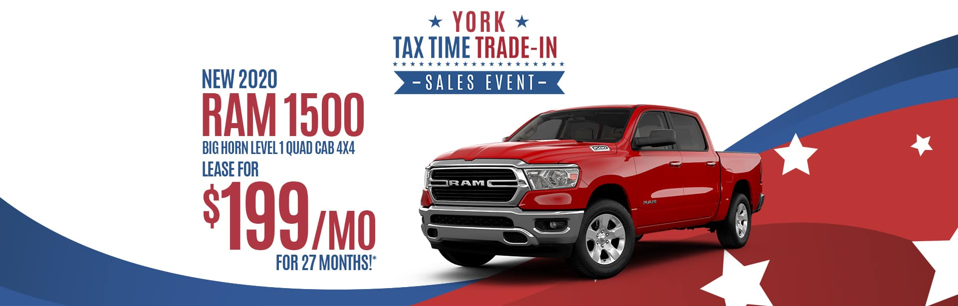 Lease a New 2020 RAM for $199 a month in Crawfordsville, Indiana