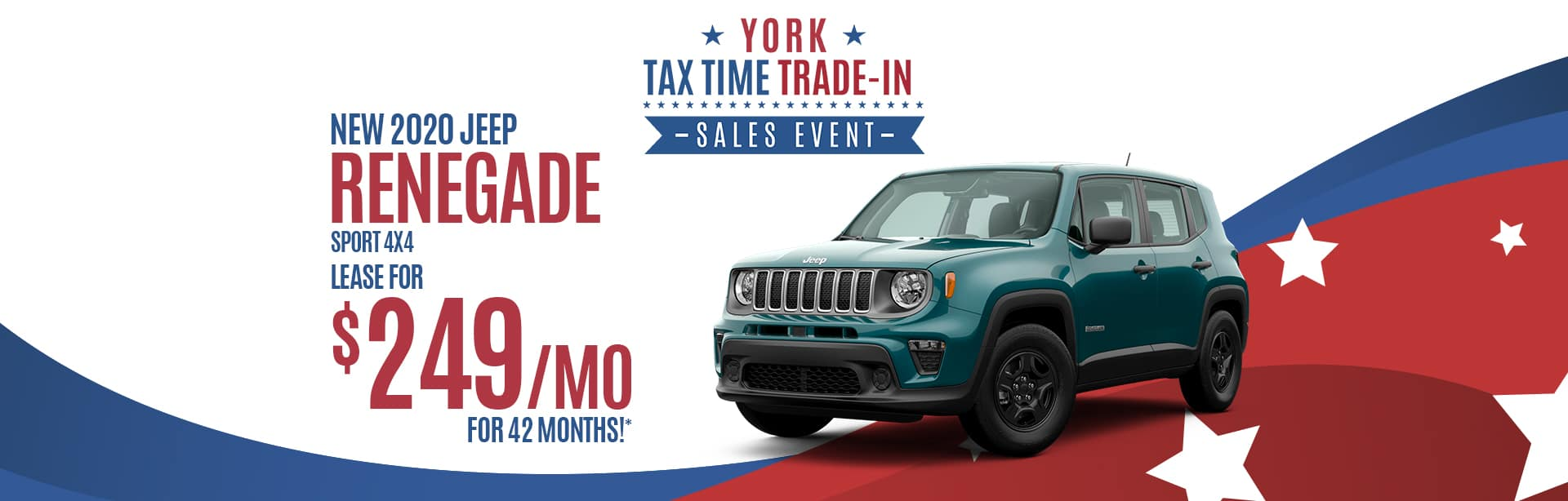 Lease a New Jeep Renegade for $249 a month near Lebanon, Indiana