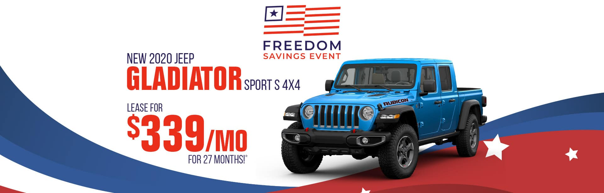 All new Jeep Gladiator for $339 a month near Lafayette, Indiana