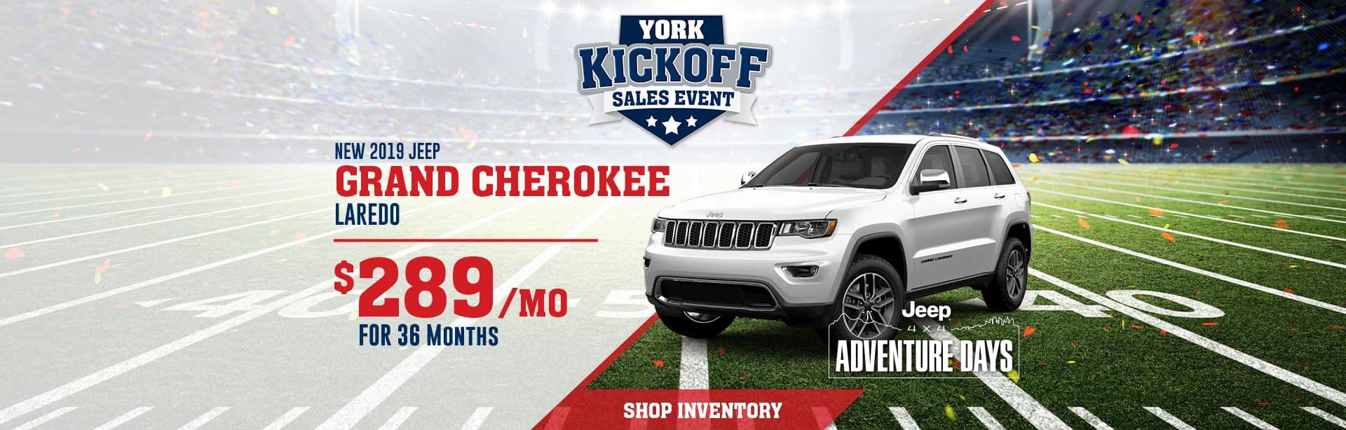 Lease a 2019 Jeep Grand Cherokee near Lafayette, Indiana