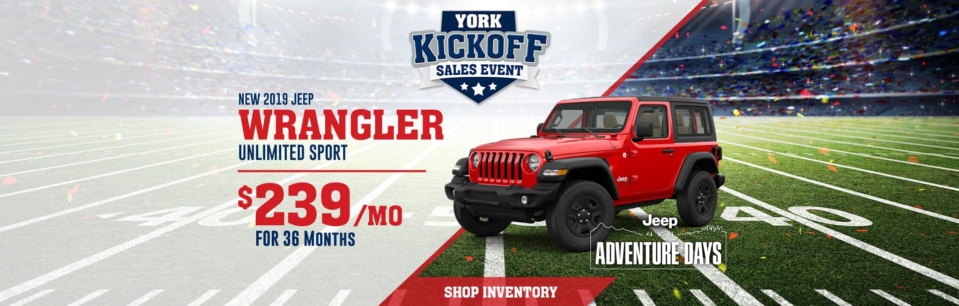 Lease Special on a New Jeep Wrangler, near Danville, Illinois