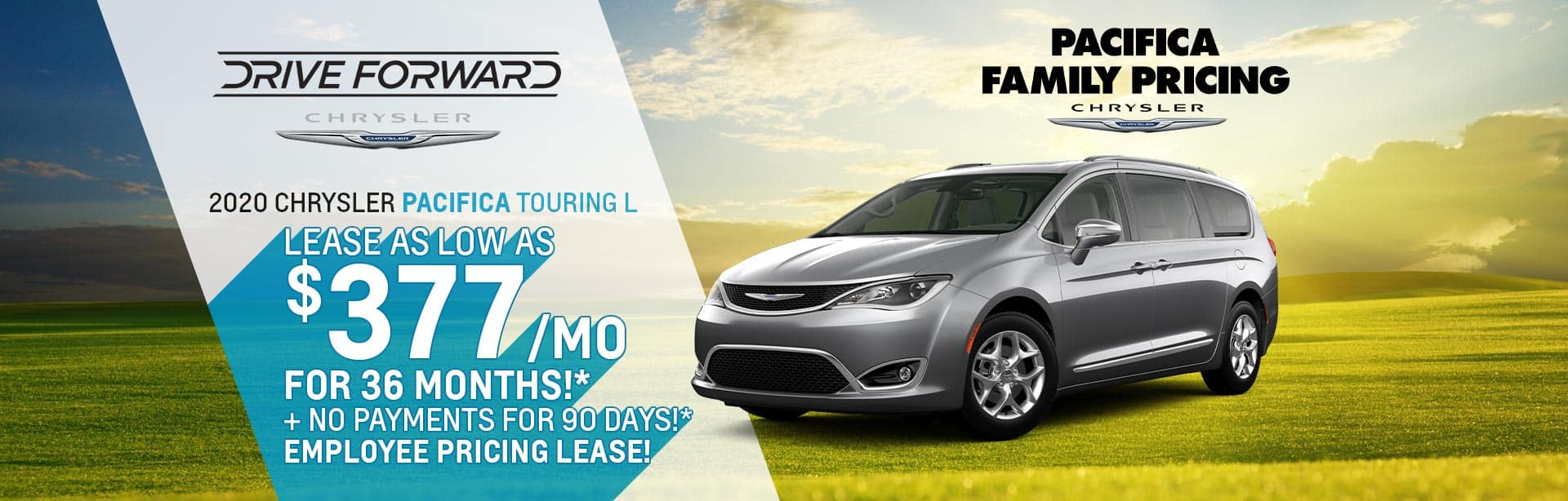 Lease deal on a New Chrysler Pacifica near Lafayette, Indiana