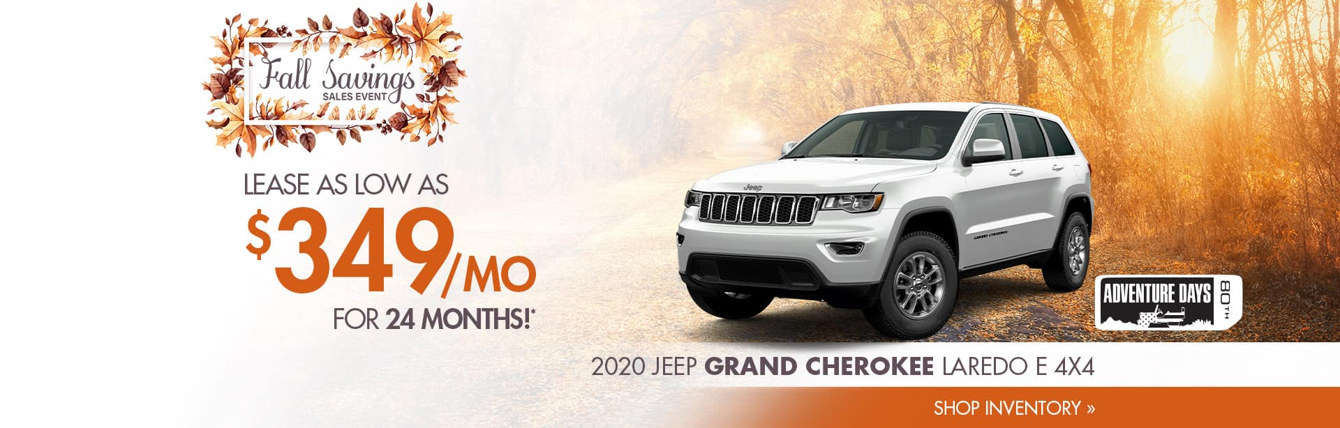 Lease a Grand Cherokee for $349 a month near Attica, Indiana
