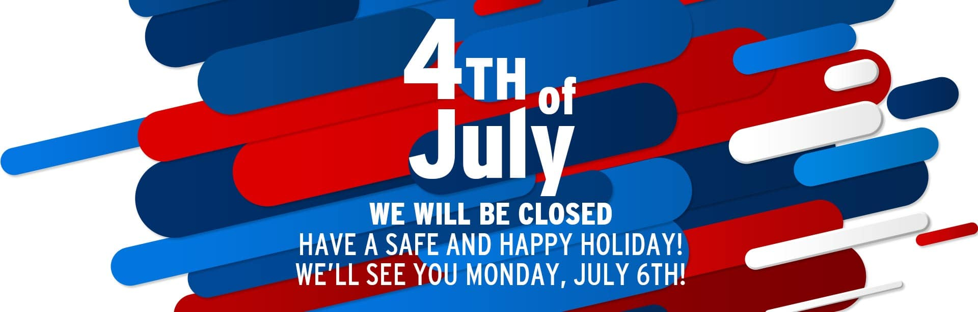 York CDJRF will be closed July 4th