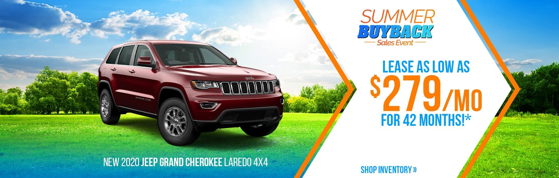 Lease a Grand Cherokee at $279 a month near Lafayette, Indiana