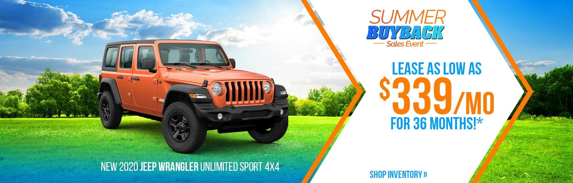 Lease a Wrangler for $339 a month near Lafayette, Indiana