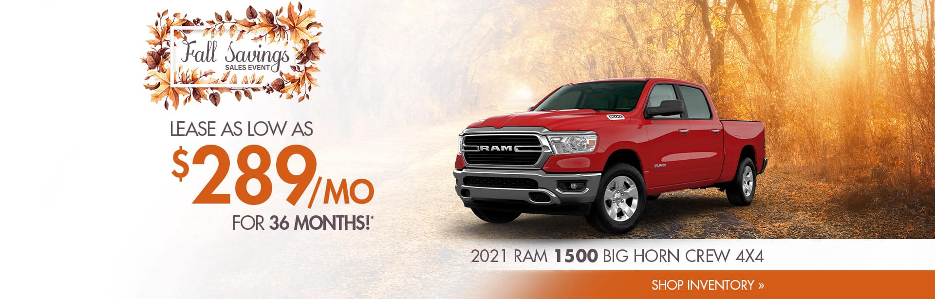 Lease a New 2021 RAM for $289 a month in Veedersburg, Indiana