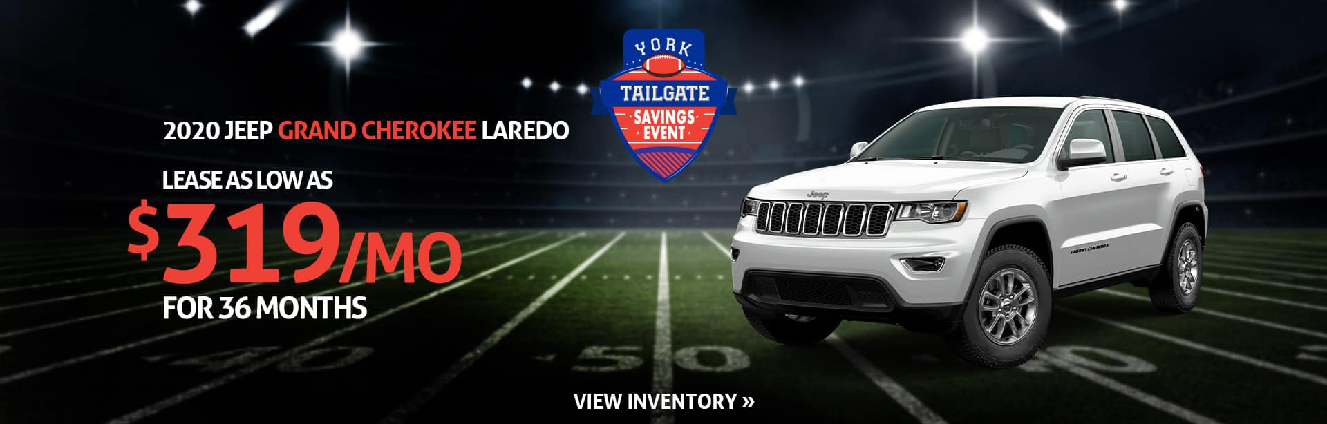 Lease a Grand Cherokee for $319 a month near Lafayette, Indiana
